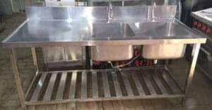 commercial kitchen sink unit